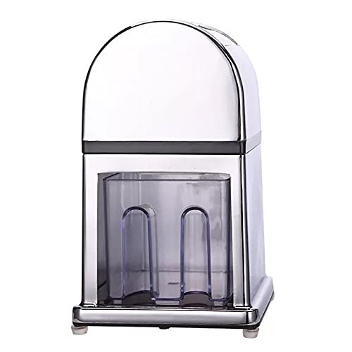 Manual Ice Crusher Constructed In Anti-Rust Zinc Alloy - Carbon Steel Blade for Ice of The Desired Size, Non-slip, Easy To Use Crank with Stylish Mirrored Finish - Perfect for Cocktails