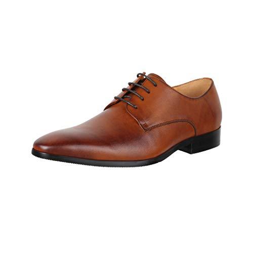 Elara Zapatos de Cordones Hombres Business Chunkyrayan RL1726-1 Cognac-39