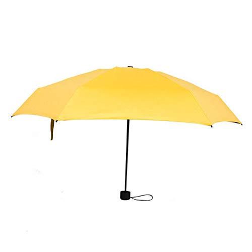 Best Design 1 Pc Small Five Folding Umbrella Mini Pocket Parasol Girls Anti Uv, Small Folding Umbrella - Rain Mini Umbrella, Pocket Umbrellas, Black Small Umbrella, Ladies Folding Umbrellas