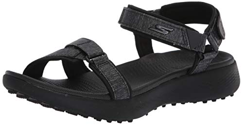 Skechers GO GOLF womens 600 Sandal Golf Shoe, Black/Black, 7 US