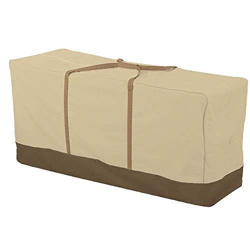JTWEB Custodia per Cuscini da Arredamento Esterno Protezione per Cuscini per Sedie/Panche da Giardino (152x71x51 cm, 420D)