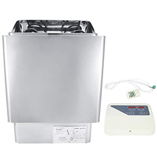 Estufa calefactora de Sauna, Estufa de Sauna Seca, Equipo de SPA eléctrico de Acero Inoxidable para Sala de Vapor SPA Sala de Sauna Baño