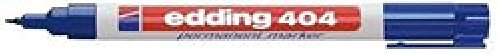 Marcador permanente Edding 404 Punta Redonda 0,75 mm azul (c