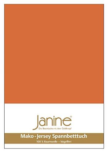 Janine - 5007, lenzuolo con angoli, tricot 140 cm x 200 cm Arancione tostato