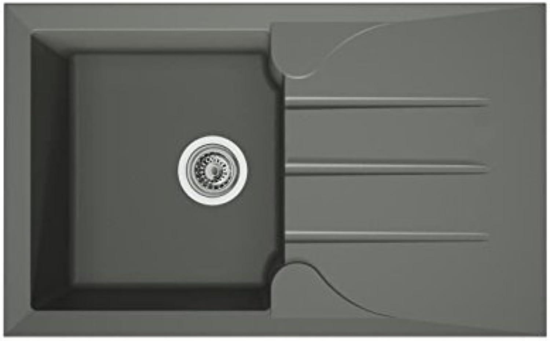 Evier Aloa 1 bac grey acier