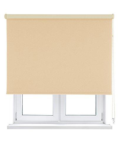 KAATEN Estor Enrollable Opaco/Black-out/Oscurante-Disponible en Varias Medidas y Colores, Apricot, 75x250