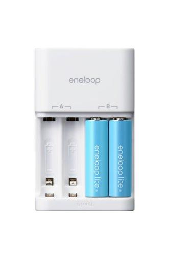 SANYO eneloop lite 充電器セット 単3形eneloop lite2個セット N-TGL01QS