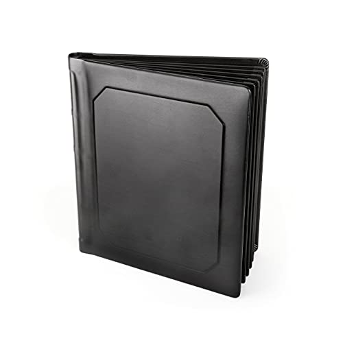 Tuscany Albums Professional Leatherette Bound Slip-in Photo Album, Holds 30 8x10 Photos (15 Page), Black