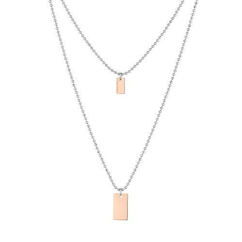 Liebeskind Berlin Halskette mit Anhänger aus Edelstahl, Multi, 55 cm
