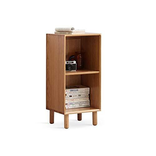 JCNFA planken massief hout boekenkast, TV zijkastje, woonkamer kast, artistieke boek organisator, cd's albums boeken houder, open ontwerp, 2 maten