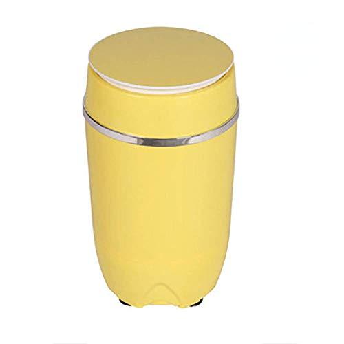 LLDKA Depuradores Secadora portátil Compacto centrífuga con Flexible, Wash Capacidad de 3,5 kg de Capacidad E Secado 1,5 kg,Amarillo