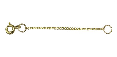 ANTOMUS BRITISH 9 CARAT(375) SOLID YELLOW GOLD DIAMOND CUT CURB CHAIN EXTENDER CHAIN 2 INCH