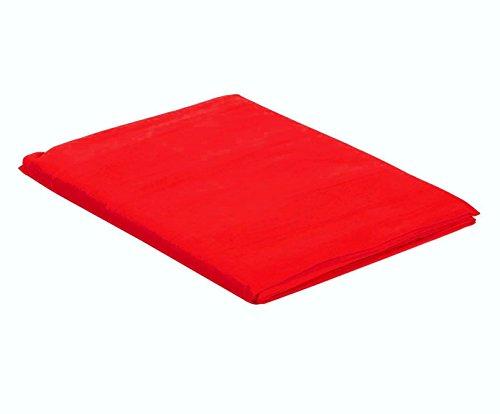 Italian Bed Linen Max Color Telo Copritutto in Tinta Unita, 100% Cotone, Rosso, Singolo, 170 x 300 cm