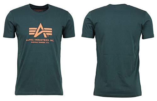 Alpha Industries Herren Basic T-Shirt,Grün (Olive 11), Large