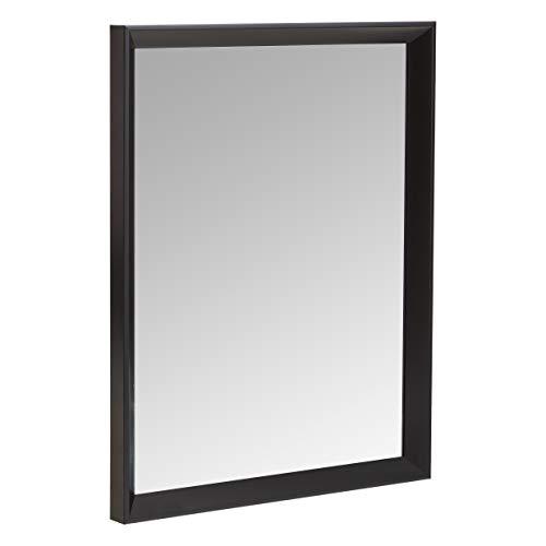 Amazon Basics Espejo para pared rectangular, 40,6 x 50,8 cm - marco biselado, negro