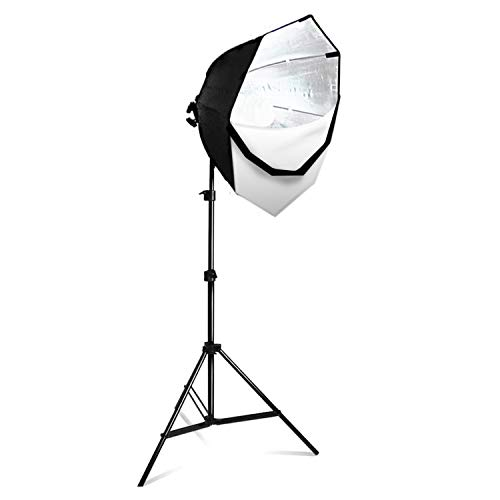"""LimoStudio Photography Studio Continuous 26"""" Octagonal Soft Box Lighting Light Kit with CFL 85W Bulb and Light Stand for Photo Studio Shooting, AGG702"""