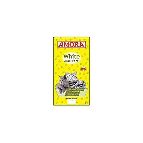 Amora Katzenstreu White Compact Aloe Vera | 15 l