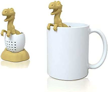 Tea Infuser Dinosaur eggshell Filter Diffuser Loose Tea Silicone Strainer for Different Mugs product image