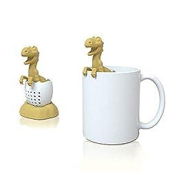 3. Sanderala Store Dinosaur Tea Infuser