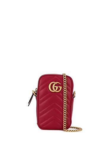 Luxury Fashion | Gucci Dames 598597DTDCT6433 Rood Leer Schoudertassen | Lente-zomer 20