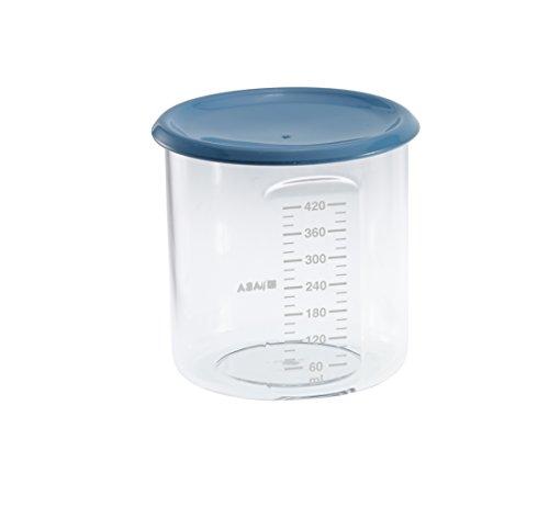 Béaba 912541 - Potito de conservación para la comida del bebe, con tapa, 420 ml, Azul