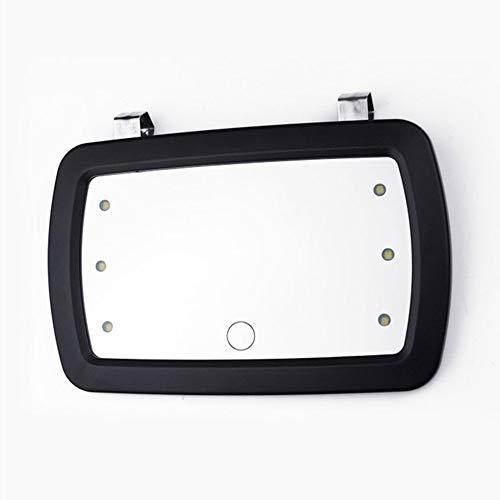 Auto zon Visor Spiegel, met zes LED-verlichting, Auto Anti Glare Driving Shading Spiegel, Auto Anti-Glare Clip-on Zonneschermen, voor Zon Visor en Auto Seat Back, (11 * 17CM)