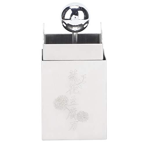 Changor Apropiado Tofu Cuchillo, Acero Material 2x2mm Prensa Fabricante Lavaplatos Hecho de 304 Inoxidable Acero por Haciendo Cortar Flores (Plata)