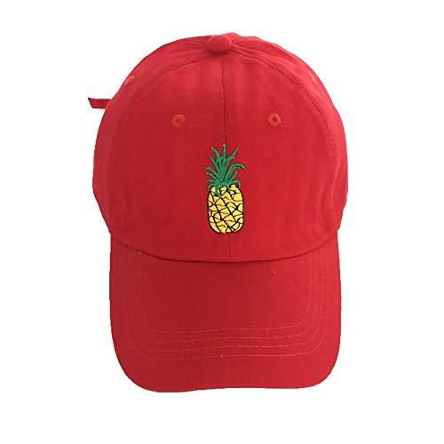JXMK Berretto da Baseball ricamato con Ananas Cappello in Cotone 100% Alla Moda Cappello con Ananas da frutta Cappello con Cappuccio in Cotone Hip-Hop