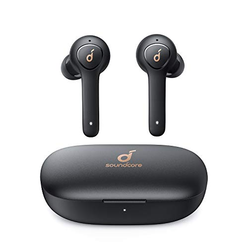 Wireless Headphones, Anker Soundcore Life P2 True Wireless Earbuds Headphones with cVc 8.0 Noise Reduction, Clear Sound, USB C, 40H Playtime, IPX7 Waterproof, Wireless Earphones for Work, Home Office