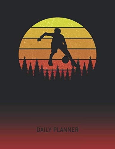 Daily Planner: Basketball Jump Shot | 2021 - 2022 | Plan Each Day for 1 Year | Retro Vintage Sunset Cover | January 21 - December 21 | Planning ... | Plan Weeks Set Goals & Get Stuff Done