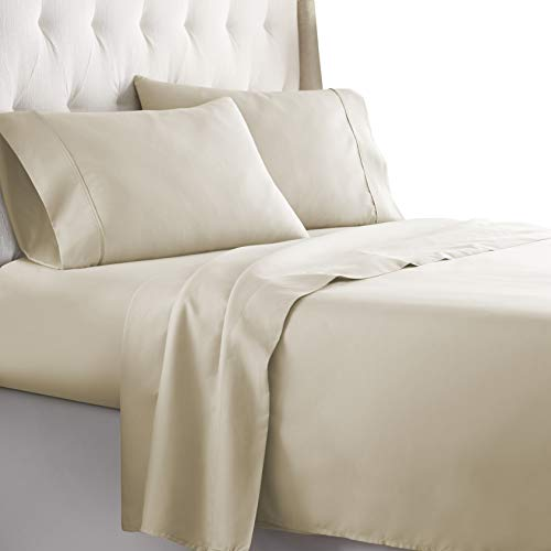 Hotel Luxury Bed Sheets Set-SALE TODAY ONLY! On Amazon-Top Quality Softest Bedding 1800 Series Platinum Collection-100%!Deep Pocket, Wrinkle & Fade Resistant(Queen,Cream)