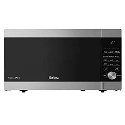 Galanz GEWWD16S1SV11 ExpressWave Sensor Microwave Oven, Patented Inverter Technology, 10 Variable Power Levels, Express Cooking Knob, 1.6 Cu.Ft/1100W, Stainless Steel, Ft