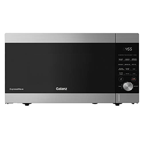 Galanz ExpressWave Sensor Microwave Oven, Patented Inverter Technology, 10 Variable Power Levels, Express Cooking Knob, Stainless Steel, 1.6 Cu Ft