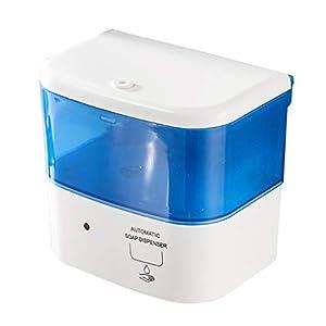 QIFFIY Distributore di sapone automatico a parete Dispenser di sapone per cucina, bagno, hotel, scuole, senza tocco, sensore automatico, dispenser di sapone con pompa pratica