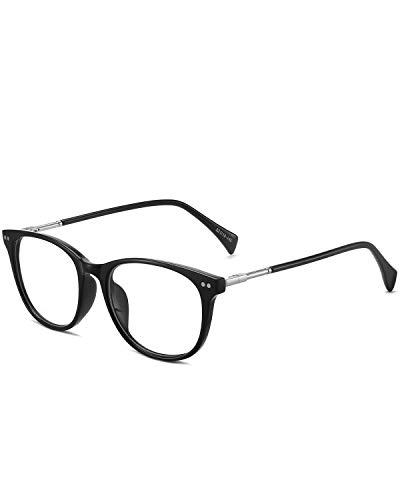 ANRRI Blue Light Blocking Glasses Computer Eyewear Lightweight Frame Eyeglasses (Black)