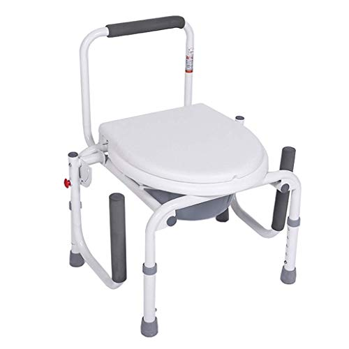 JYTBD YUN TAO Commode Stoel - Heavy Duty Medical Toilet Veiligheid Frame voor Ouderen, Handicap en Gehandicapten Hoogte Verstelbare Badkamer Douchestoel met leuningen Max.150kg