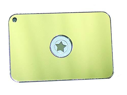 ESpelho de sinal flutuante STARFlash com design compacto, leve, estrela e cordão para caminhadas, acampamento, mochila e situações de emergência