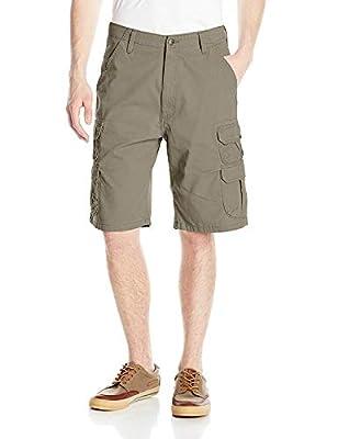Wrangler Authentics Men's Premium Twill Cargo Short, Bullfrog, 34 by Wrangler Authentics Men's Sportswear
