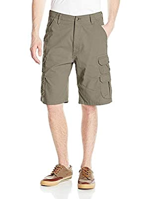 Wrangler Authentics Men's Premium Twill Cargo Short, Bullfrog, 38