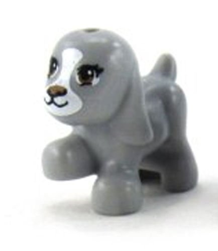 LEGO Minifigure Arctic Siberian Husky Dog Animal Pack of 5 for Sled Team Pet Puppy Loose