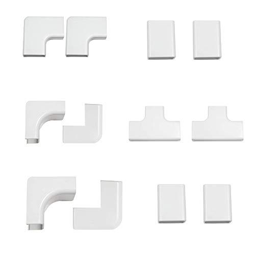 Discra Kabelkanal Clip, Zubehör, Multipack, Magnolie, 12 Stück, 20 x 10 mm (eben, 24 * 14)
