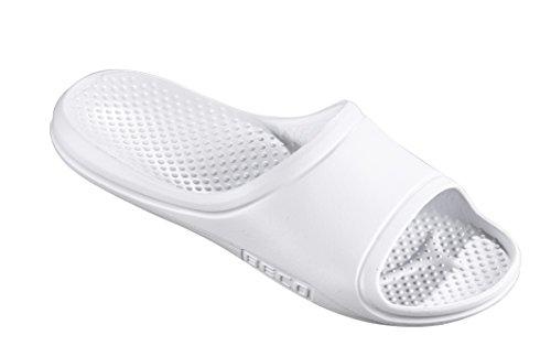 Beco Pantoletten-90656, Sabot Unisex-Adulto, Bianco 1, 45 EU