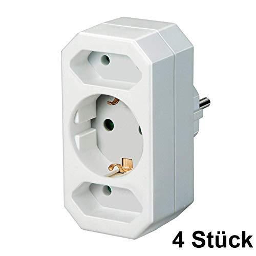 Brennenstuhl Adapterstecker Euro 2 + Schutzkontakt 1 weiß, 1508050 (4)