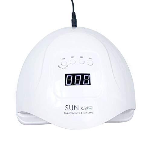 TOOGOO Soleil X5 Plus Led Lampe 80W SèChe Ongles Lcd Affichage 36 Led SèChe Ongles Lampe Pour Le SéChage Du Gel Polonais Auto Capteur Minuteur Ongles Manucure Prise EuropéEnne