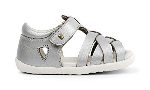 Bobux Step Up Tropicana Open Sandal_Primeros Pasos - Sandalias de bebés Bobux de Piel (Silver, Numeric_20)
