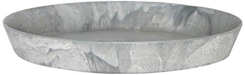 Artstone Sottovaso rund, resistente al gelo e leggero, Grigio, 35x5cm