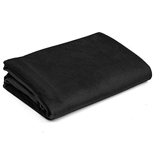 Tejido de vellón Tejido de tapicería por metro Tejido de terciopelo - Tejidos de costura de un color Tejido de tapicería Uni Öko-Tex Standard 100 (Negro, 200 x 160 cm - Velvet)