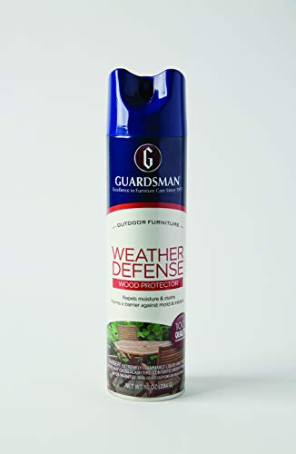 Guardsman 461900 Weather Defense Outdoor Wood Furniture Protector - Repels Moisture and Stains, 10 Oz