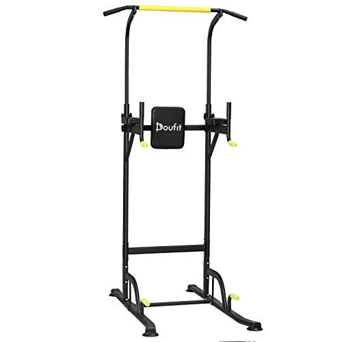 Doufit Power Tower Exercise Equipment, PT-01 Adjustable Power Tower Dip Station with Pull Up Bar for Home Gym, Heavy Duty Strength Training Workout...