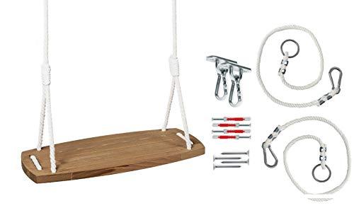 Babyschaukel Holzschaukel Schaukel Baby Erwaschsene Indoor Garten Kinderschaukel Schaukelsitz Outdoor Babysitz Holz bis 60kg! | Made in EU ECO | CE-Zertifikat
